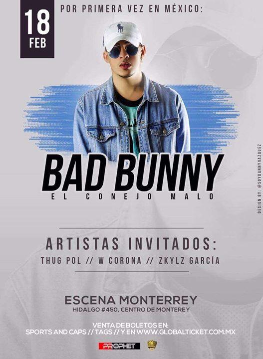Bad Bunny El Conejo Malo En Concierto At Escena Monterrey