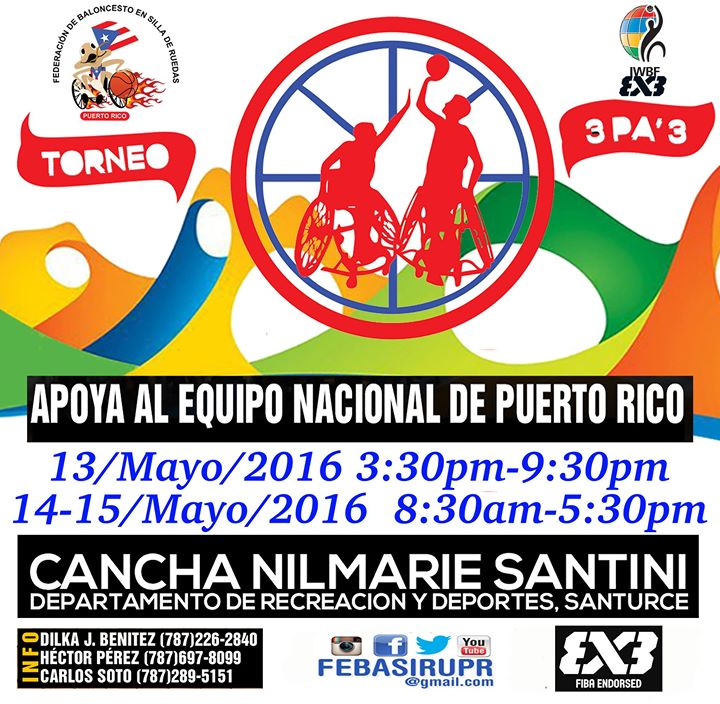 Torneo 3pa3 bsr 3x3 tournament 2016 international iwbf for Rio grande arts and crafts festival 2016