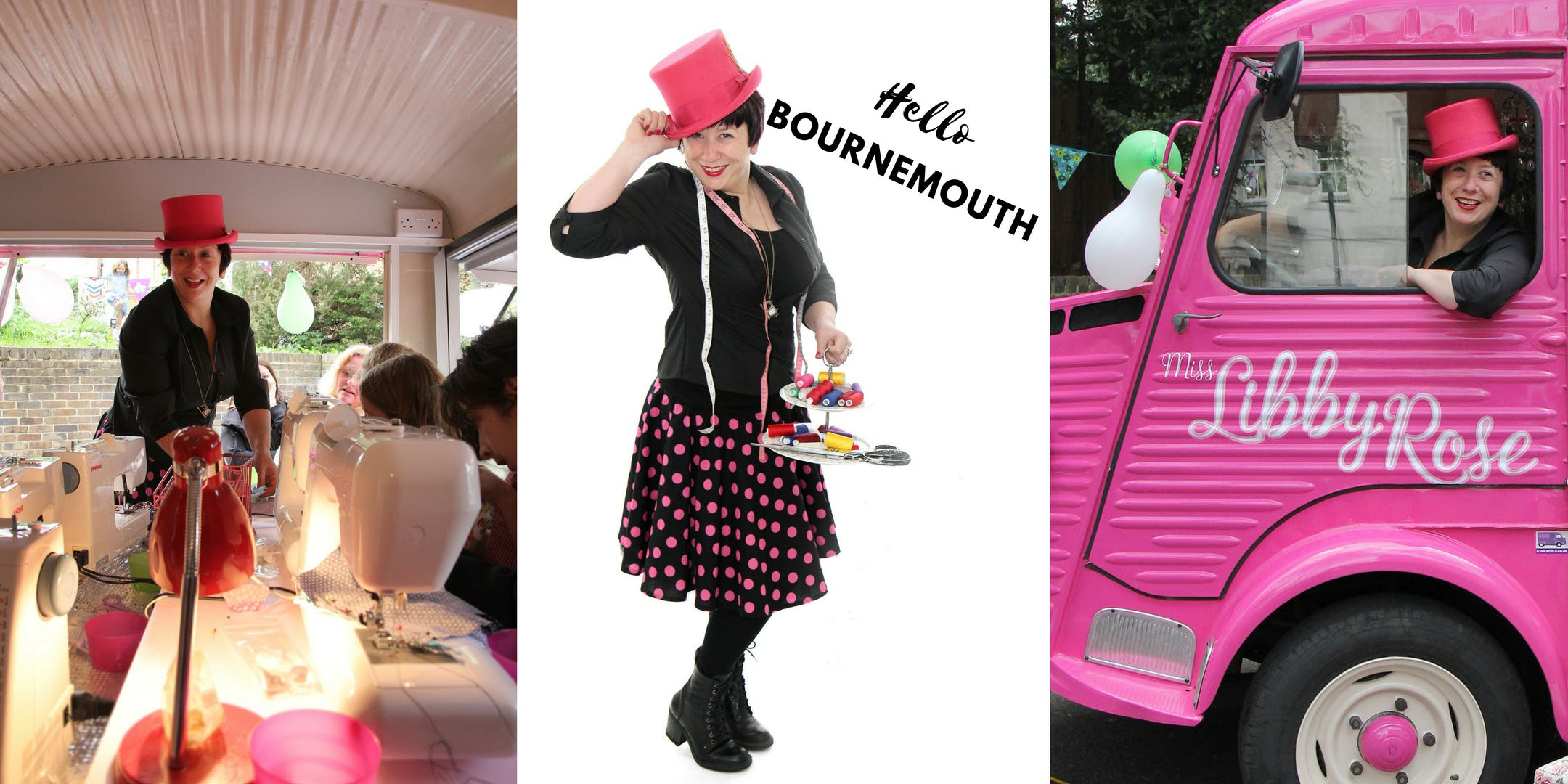 The Pink Sewing Bus comes to Hobbycraft Bournemouth