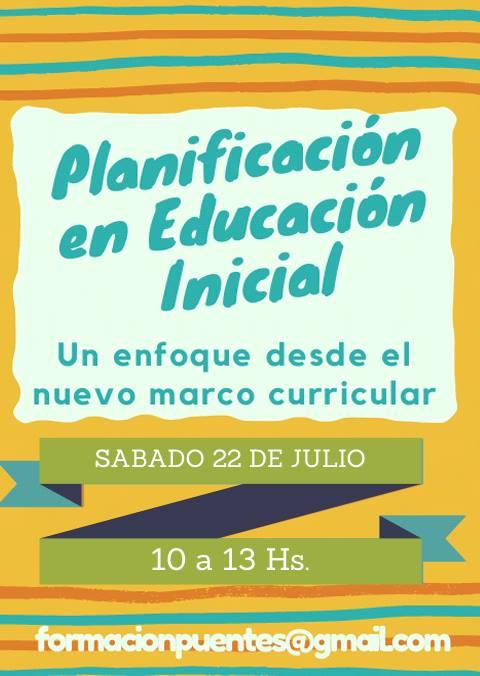 Planificación en Inicial. Nuevo Marco Curricular at Colegio Punta ...