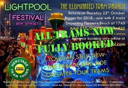 Carnival of Lights 2018 & Illuminated Tram Parade at Lightpool