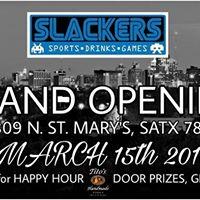Grand Opening of Slackers St. Marys