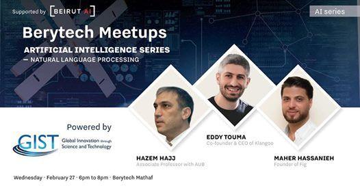 Berytech Meetup - Artificial Intelligence series