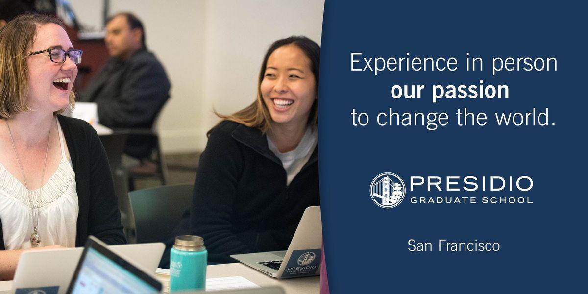 Presidio Graduate School San Francisco Class Tour - Fall 2019