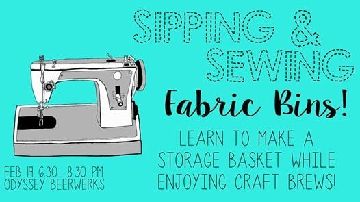 Sipping  Sewing - Fabric Bins