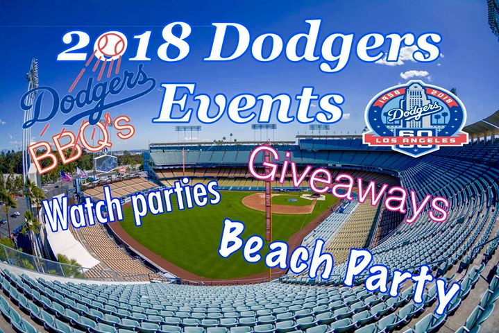 Dodgers all season 2018 events