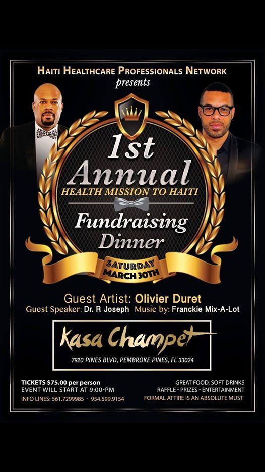 1st Annual Health Mission to Haiti Fundraising Dinner at