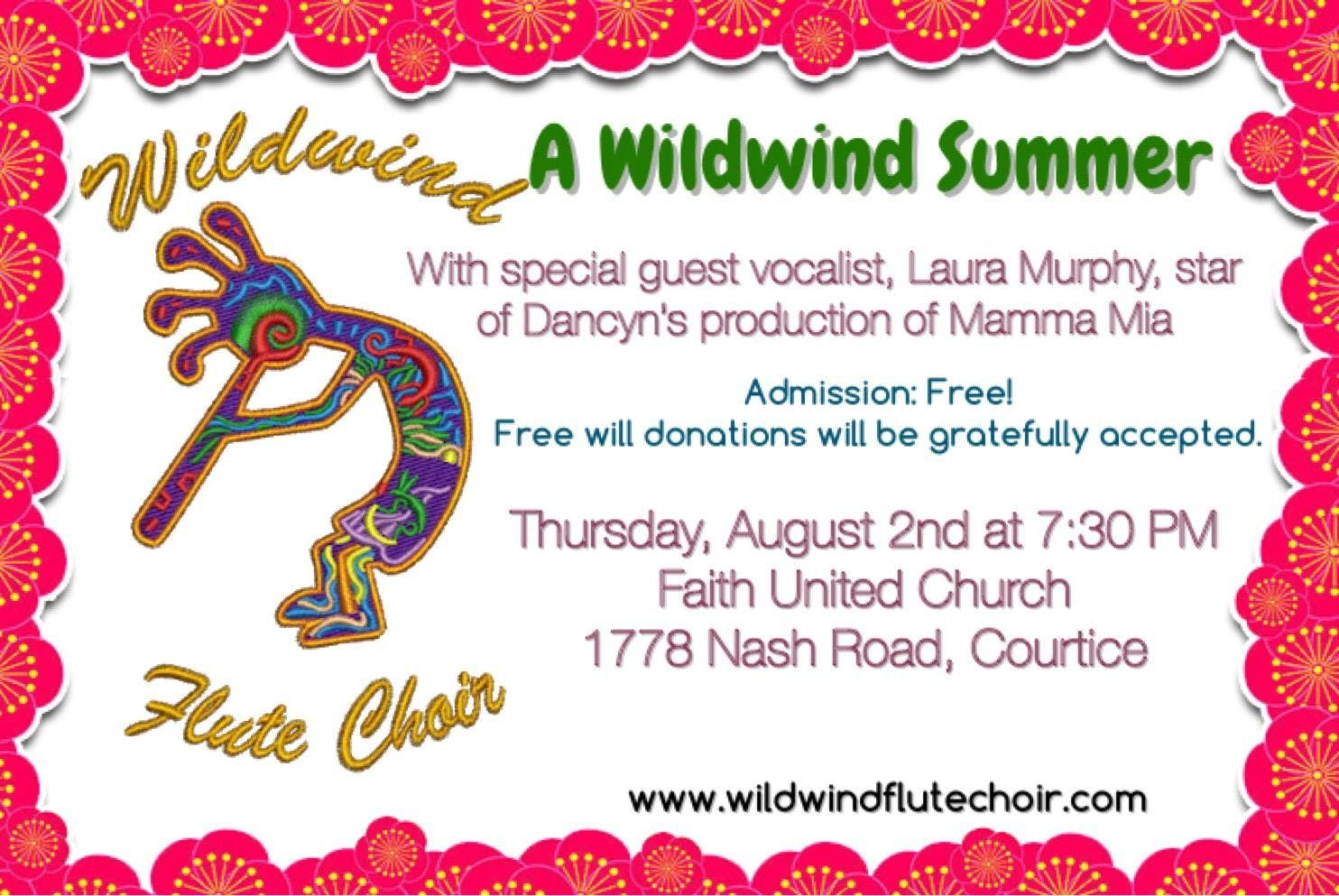 A Wildwind Summer Concert at Faith United Church, Courtice