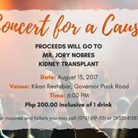 Concert for a Cause (Mr. Jory Nobres Kidney Transplant)