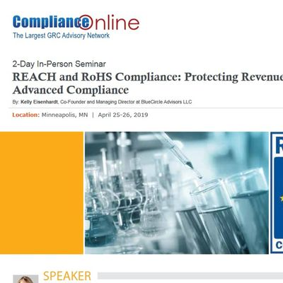 REACH and RoHS Compliance Protecting Revenues with Advanced Compliance (COM) A