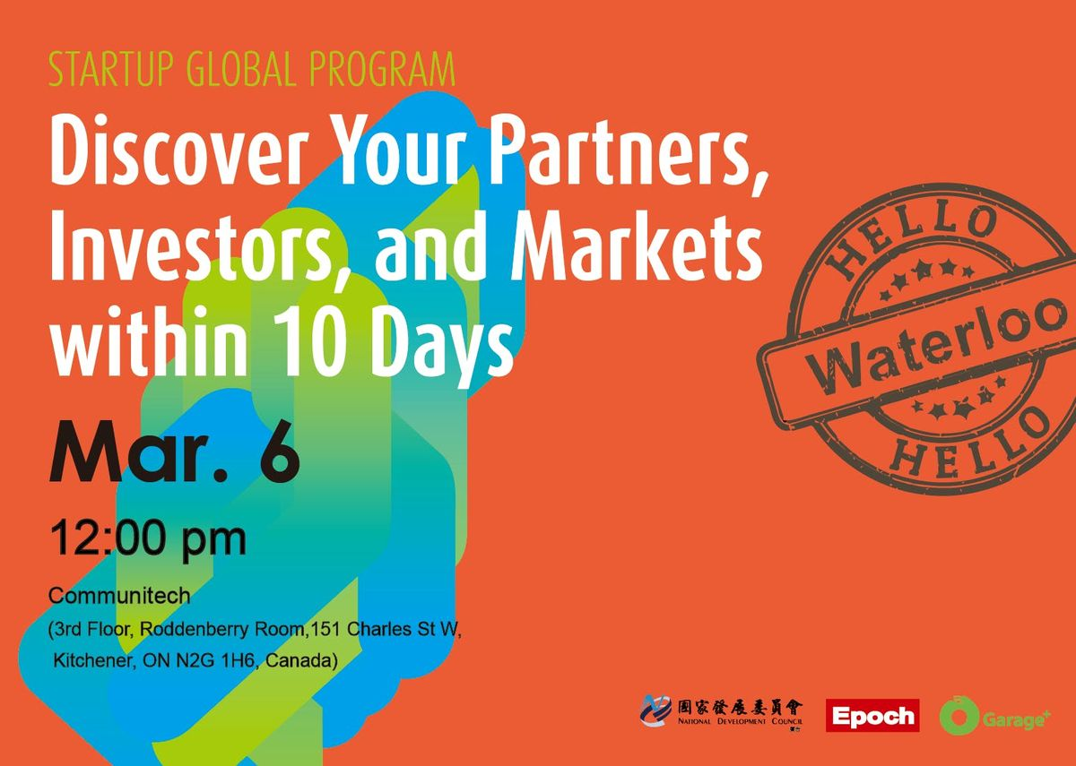 Startup Global Program - Discover markets partners and investors in Asia