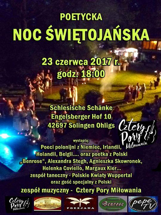 Poetycka Noc Świętojańska at Schlesische Schänke Engelsberger Hof 10 ...