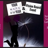 Wishes Come True Vision Board and Word of The Year