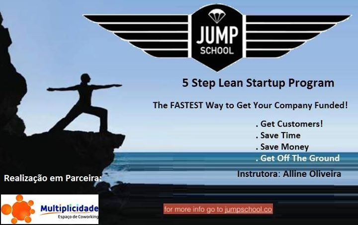 Lanamento Jumpschool 2017 Programa lean startup