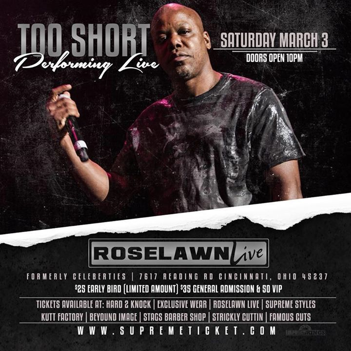 Too Short performing live at Roselawn Live