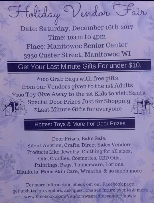 Asking vendors for door prizes
