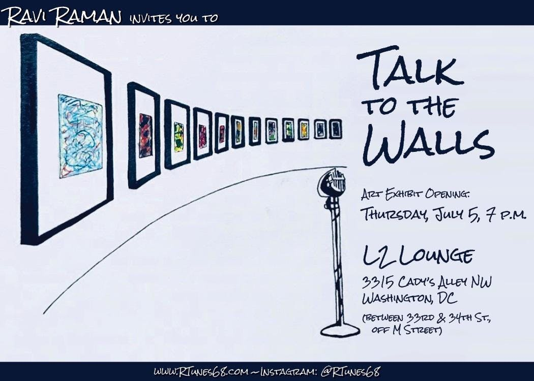 &quotTalk to the Walls&quot by Ravi Raman- Solo Pop-up Art show