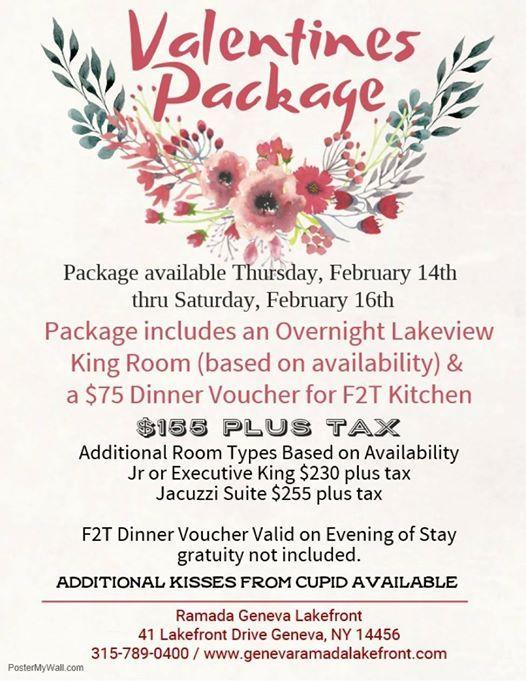 Valentines Day at Ramada Geneva Lakefront