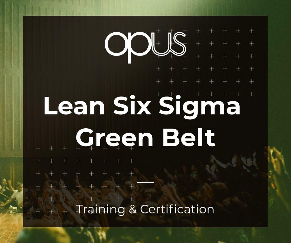 Cebu Lean Six Sigma Green Belt Training Certification At Cebu