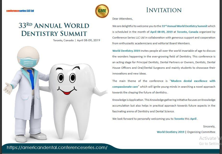 33 rd Annual World Dentistry Summit (CSE)