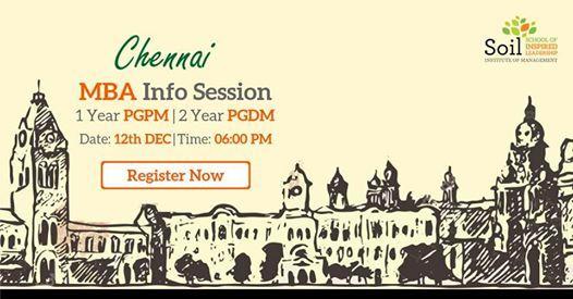 SOIL PGPM  PGDM Info Session - Chennai