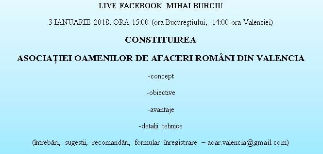 LIVE Facebook cu Mihai Burciu - Constituirea Asociaiei AOARV