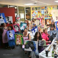 Holiday paint your pet party at painting with a twist for Painting with a twist arizona