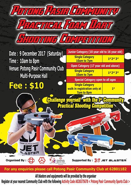 Potong Pasir Community Practical Foam Dart Shooting Competition