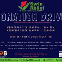 Donation Drive for Syria Relief