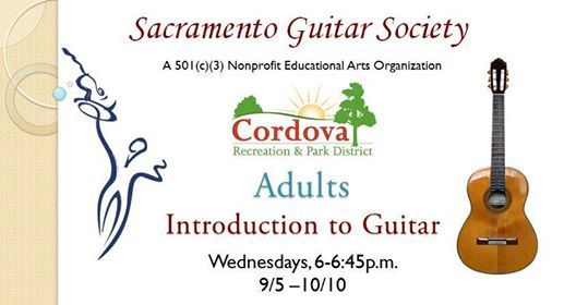 Adults Intro to Guitar - Rancho Cordova at Neil Orchard Senior