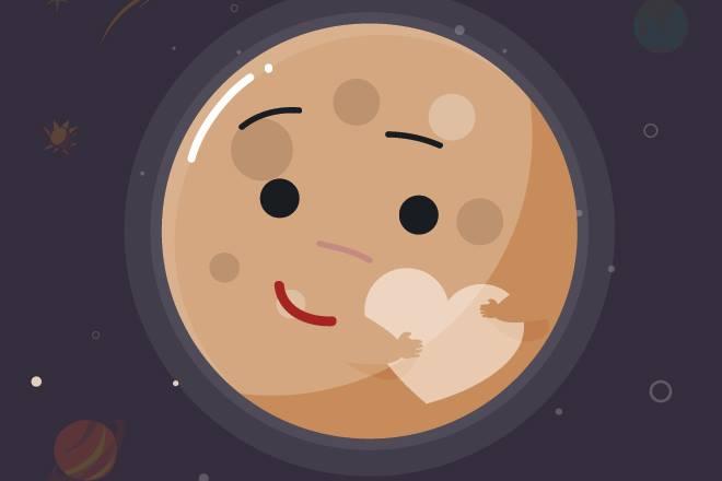 pluto planet cartoon - 660×440