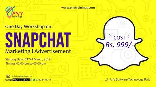 One Day Workshop on Snapchat Marketing and Advertisement at