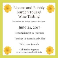 Blooms &amp Bubbly Garden Tour and Wine Tasting