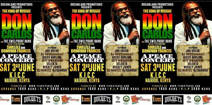 The Legendary Don Carlos LIVE IN KENYA