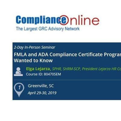 FMLA and ADA Compliance Certificate Program Everything You Ever Wanted to Know (COM)