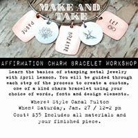 Affirmation Charm Bracelet Workshop