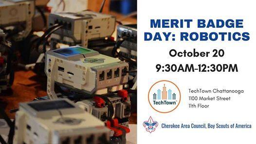 Merit Badge Day Robotics At Cherokee Area Council Bsa Tennessee