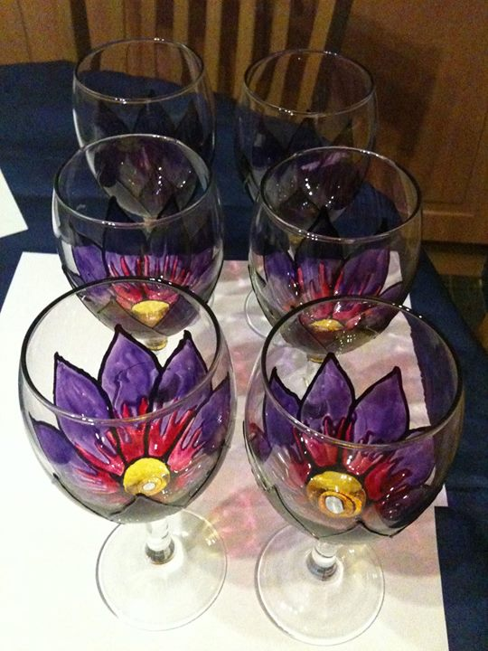 Wine glass painting at lake pepin winery lake city for Wine and paint orlando