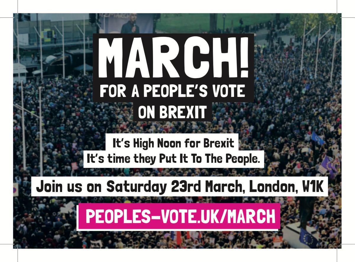 Coach to Peoples Vote in London 23rd March from SWINDON