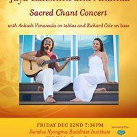 Jaya Lakshmi and Ananda-Solstice Sacred Chant Concert