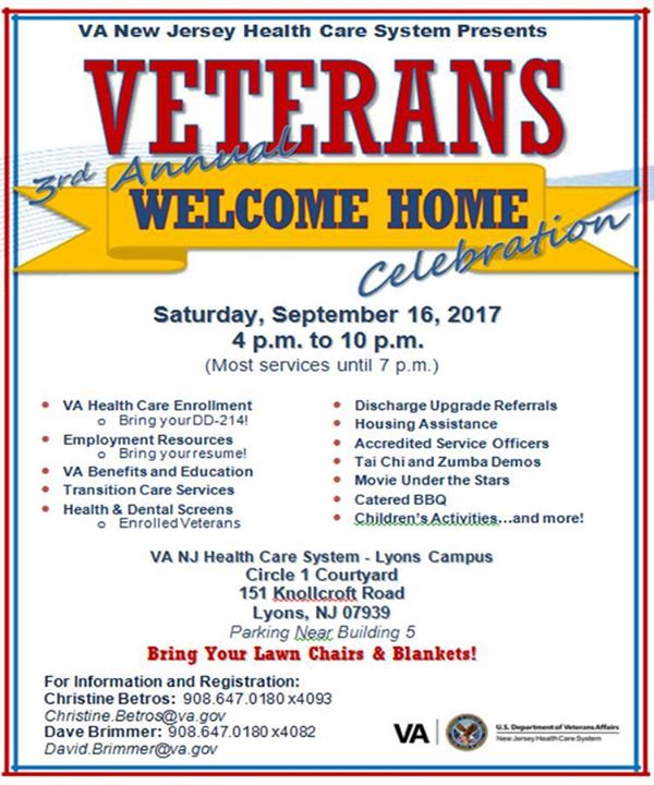 Welcome Home Celebration for Veterans & Families at VA New Jersey