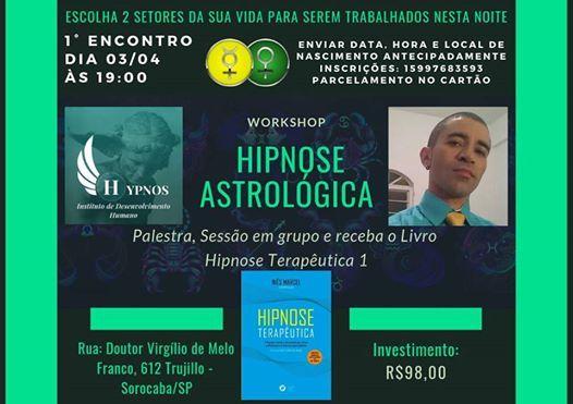 Workshop Hipnose Astrolgica Livro Hipnose Teraputica 1 incluso