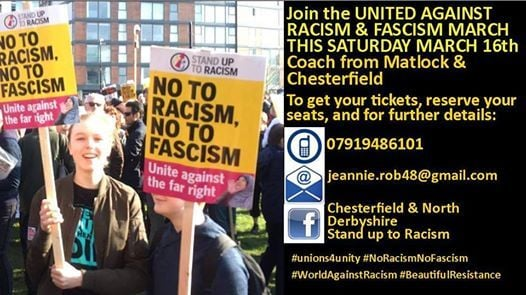 North Derbyshire coach to UN Anti Racism Day March