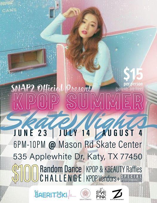 Summer Kpop Skate Night at Mason Road Skate Center, Katy