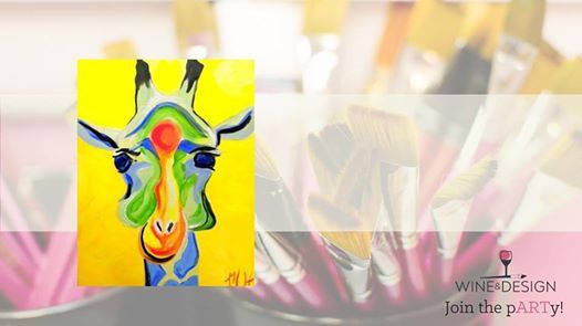 Jammin Giraffe Painting Class At Wine Design Greenville Sc