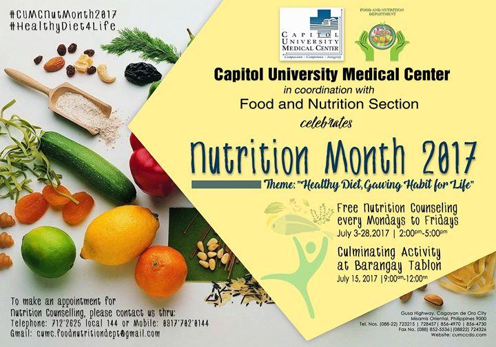 Nutrition Month 2017 At Tablon Cagayan De Oro City