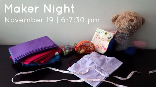 Maker Night Fun with Fabric and Notions