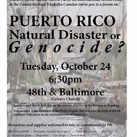 Puerto Rico Natural Disaster or Genocide