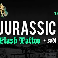 Jurassic Rock  Flash Tattoo
