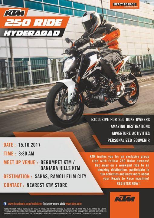 Hyderabad KTM 250 Ride